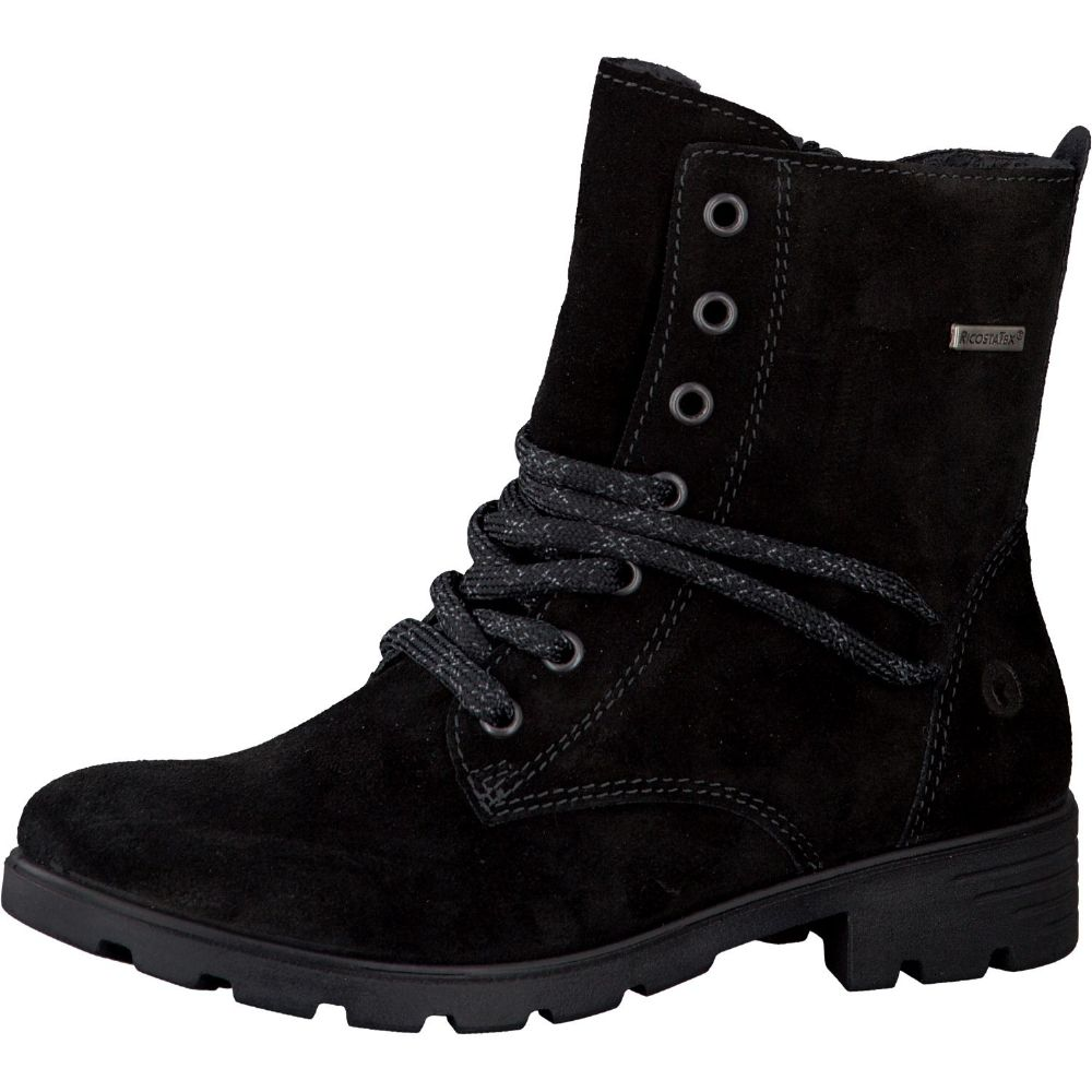Ricosta DISANA Waterproof Zip/Lace Up Boot (Black) 34 only!